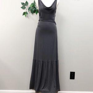NEW. ANTHRO. Free People. Maxi Hippie Grey Dress S